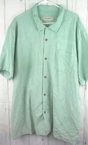 Tommy Bahama Size 3XL Casual Button Up Silk Shirt